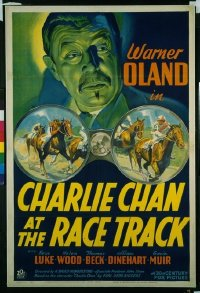 084 CHARLIE CHAN AT THE RACE TRACK linen 1sheet