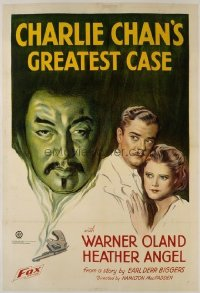 013 CHARLIE CHAN'S GREATEST CASE linen 1sheet