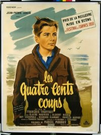 v226 400 BLOWS linen French 1p '59 Francois Truffaut