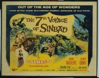 v364 7TH VOYAGE OF SINBAD style B 1/2sh '58 Harryhausen