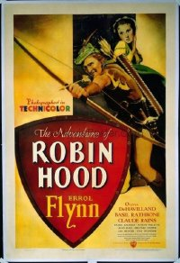 055 ADVENTURES OF ROBIN HOOD linen 1sheet