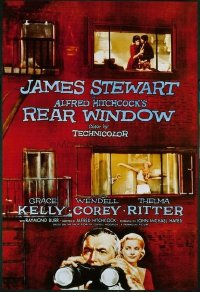 VHP7 427 REAR WINDOW one-sheet movie poster '54 Alfred Hitchcock, Stewart