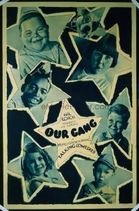 231 OUR GANG ('30s) paperbacked 1sheet