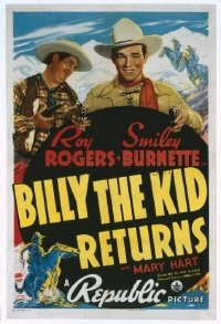 524 BILLY THE KID RETURNS linen 1sheet
