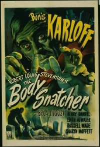 099 BODY SNATCHER ('45) paperbacked 1sheet