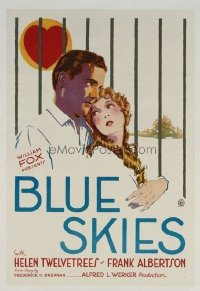 645 BLUE SKIES ('29) linen 1sheet