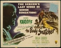 #126 BODY SNATCHER title lobby card '45 Boris Karloff, Bela Lugosi!