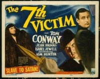 #253 7TH VICTIM title lobby card '44 Conway, Val Lewton, Mark Robson!