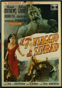 v365 7TH VOYAGE OF SINBAD  Italian 1sh '58 Harryhausen