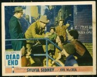 #144 DEAD END lobby card '37 Humphrey Bogart teaches kids!!