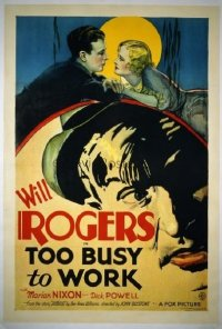 074 TOO BUSY TO WORK ('32) linen 1sheet