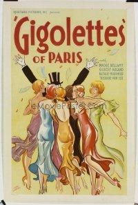 054 GIGOLETTES OF PARIS paperbacked 1sheet