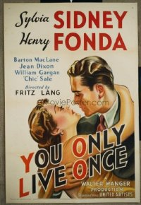 155 YOU ONLY LIVE ONCE ('37) 1sheet