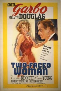 047 TWO-FACED WOMAN linen 1sheet