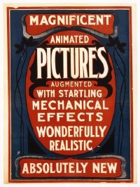 001 MAGNIFICENT ANIMATED PICTURES linen special poster 1895