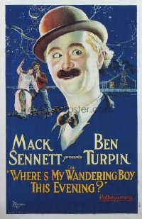 001 WHERE'S MY WANDERING BOY THIS EVENING? paperbacked 1sheet