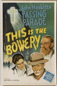 215 THIS IS THE BOWERY paperbacked 1sheet