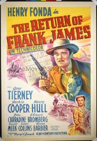 026 RETURN OF FRANK JAMES linen 1sheet